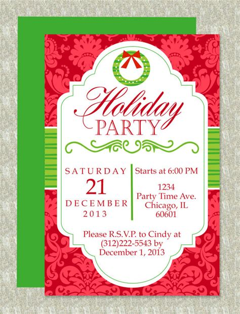 free christmas party template templates franklinfire co