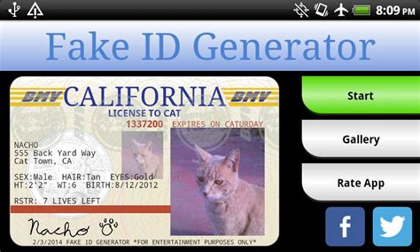 novelty id card template id generator makes it easy to make ids licenses