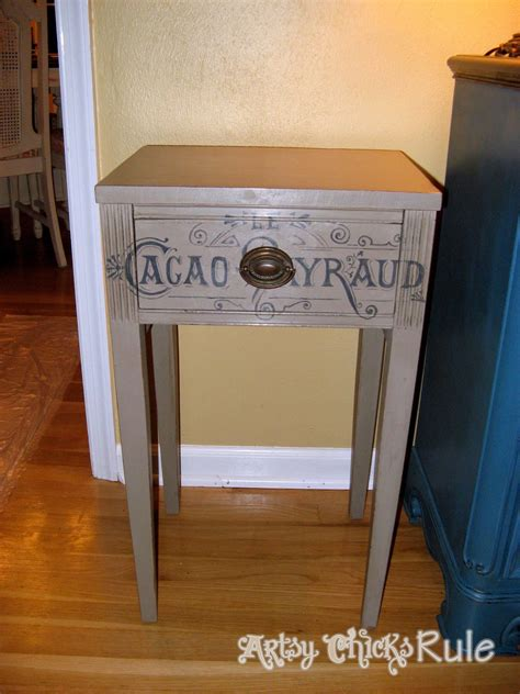 chalk painted end tables coco chalk paint antique side table artsy rule 174