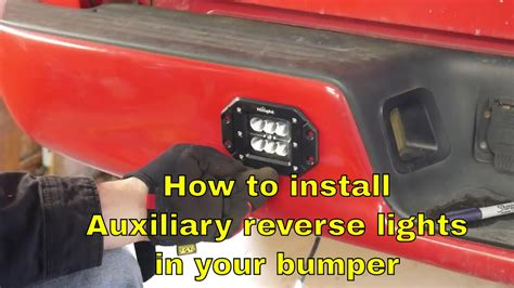 how to install auxiliary lights in a bumper