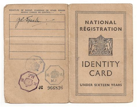 national registration identity card template archive child identity card