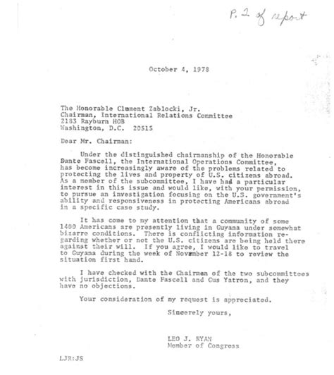 Permission Letter For Going To Temple Congress In The Archives Honoring Representative Leo J