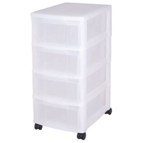 White Drawers On Wheels Drawers Storage Drawers With 4 Drawers Plastic Drawers