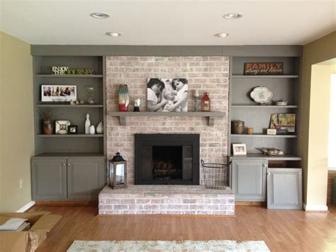 fireplace remodel on brick fireplaces
