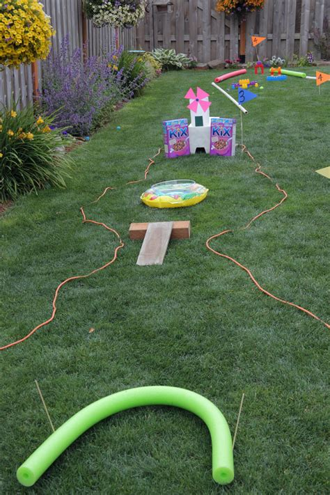 backyard miniature golf outdoor fun backyard mini golf course 183 kix cereal