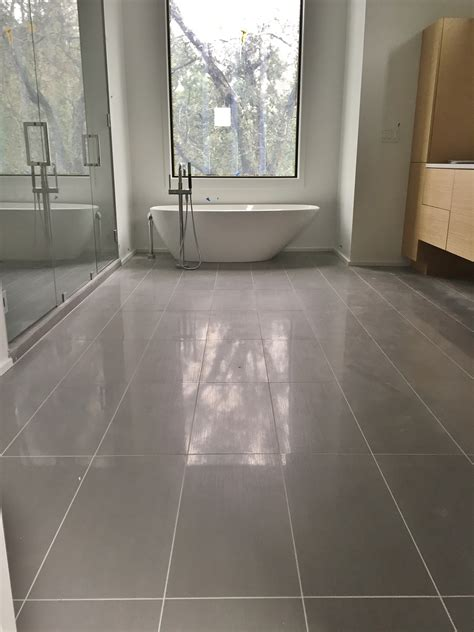 Porcelain Bathroom Floor Tiles 12x24 Porcelain Tile On Master Bathroom Floor Tile We Ve Done Charleston Sc Pinterest