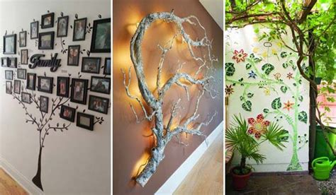how to decorate wall at home 30 fantastic wall tree decorating ideas that will inspire