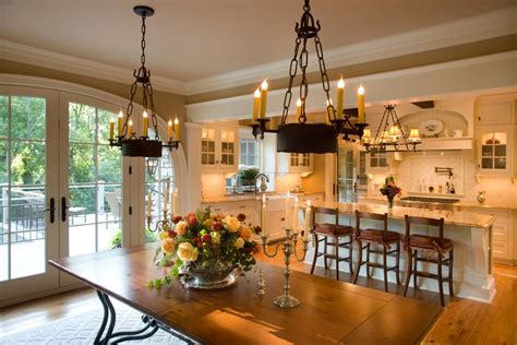 Kitchen And Dining Room Next To Each Other Candelabras In Porch Farmhouse With Add Pergola To