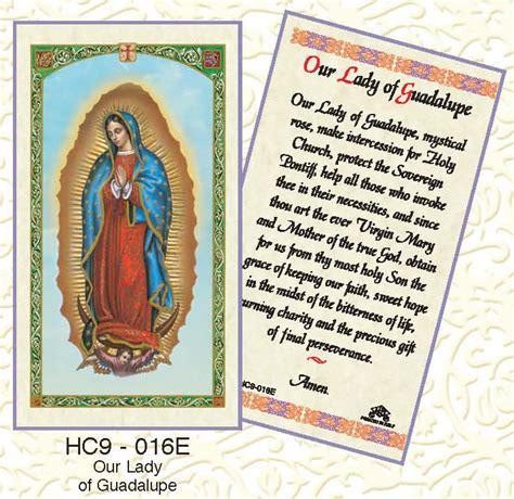 free catholic holy cards catholic prayer cards buy our lady of guadalupe catholic holy card 3 cards 16 ebay