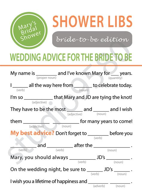 printable bridal shower mad libs 9 best images of printable mad libs for adults