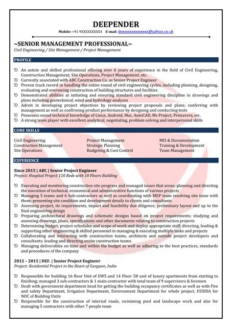 best resume format for civil engineers templates stunning freshers