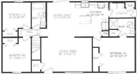 split ranch house plans lovely ranch floor plans with