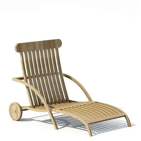wooden outdoor lounge chairs wooden garden lounge chair 3d model cgtrader