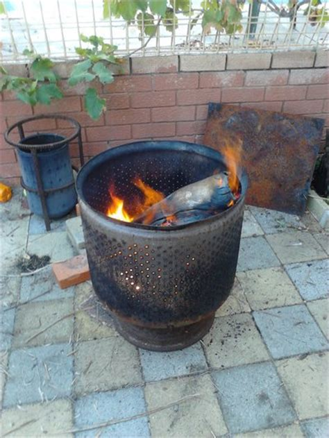 diy pit from washer drum repurpose a washing machine drum into a pit decornotes
