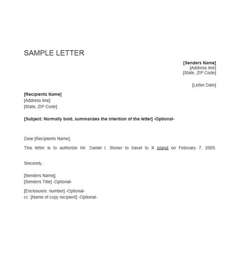 authorization letter property 46 free authorization letter sles templates free