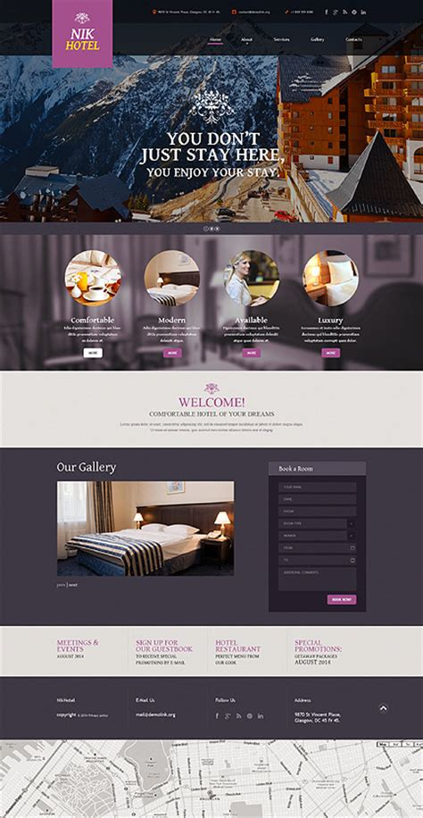 Transparent Overlays In Website Design Entheos Hotel Website Templates