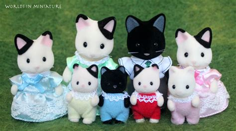 Sylvanian Families Original Cat With Oven Set sylvanian families black and white cats by worlds in