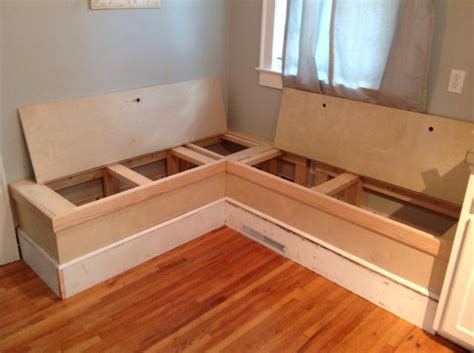 kitchen nook bench seating how to make a custom breakfast seating nook recipe