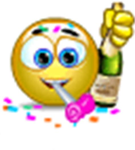 chagne emoticon animated party smiley