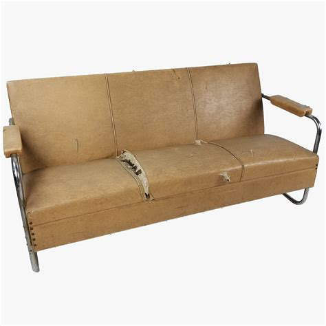 couch tubes couch beige w chrome tube legs air designs