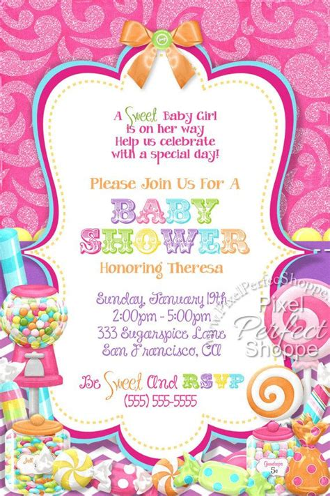Candyland Baby Shower Invitations by 17 Best Images About Land Theme On