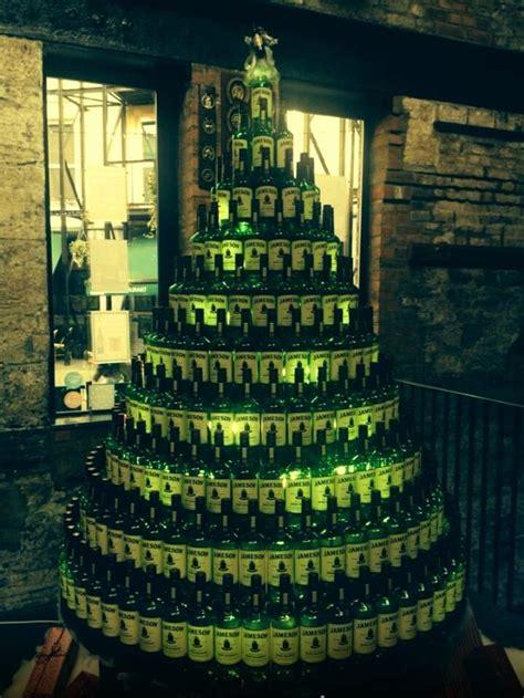 rum bottle xmas tree whiskey tree holidays whiskey