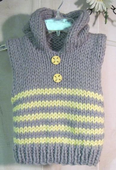 Free Pattern Vest Child   free knitting patterns featuring free baby cocoon pattern