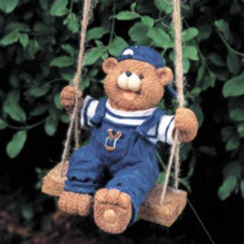 bear swing bear on swing statuary floating ornaments