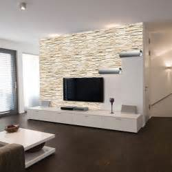 Wohnzimmer Ideen Mit Steintapete Tapete Steinoptik Wohnzimmer Grau Dumss Com