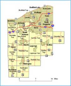 Lorain Ohio Map by Lorain County Oh County Map