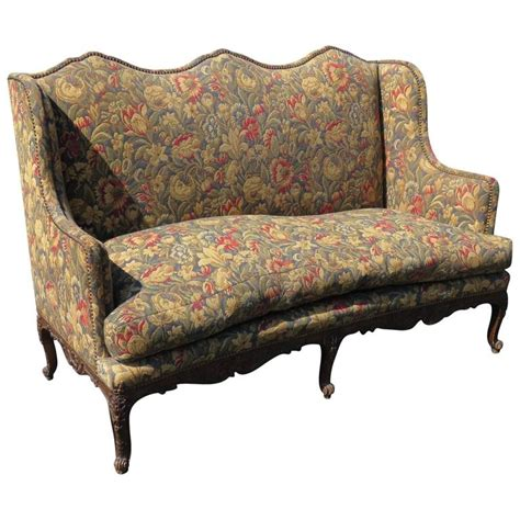 tapestry sofa louis xvi style carved walnut tapestry upholstered sofa