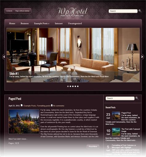 theme hotel play online 20 best free responsive wordpress themes 2013 with premium