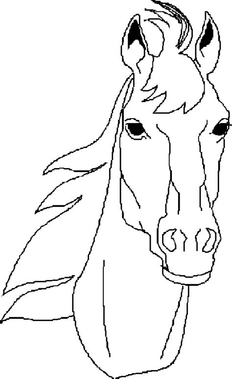 free coloring pages of horse faces