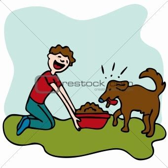feeding puppies how to take care of animals clipart clipartsgram