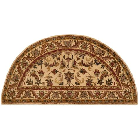half moon rugs safavieh antiquity gold 2 ft 6 in x 5 ft half moon area rug at52d 25hm the home depot