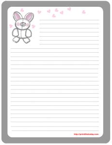 printable easter stationery