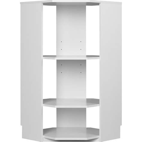 systembuild closet organizer half corner unit white