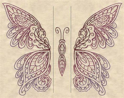 split tattoo designs mendhika butterfly split threads unique and