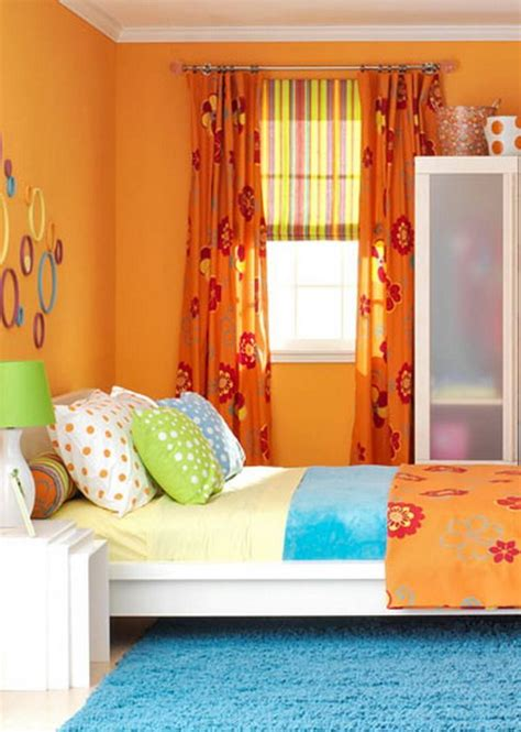 colorful bedroom curtains 1000 ideas about orange bedrooms on pinterest orange