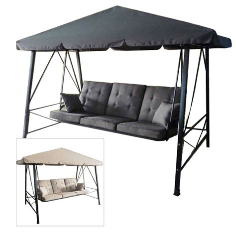 swing replacement canopy gazebo 3 person swing rus473c replacement canopy garden winds