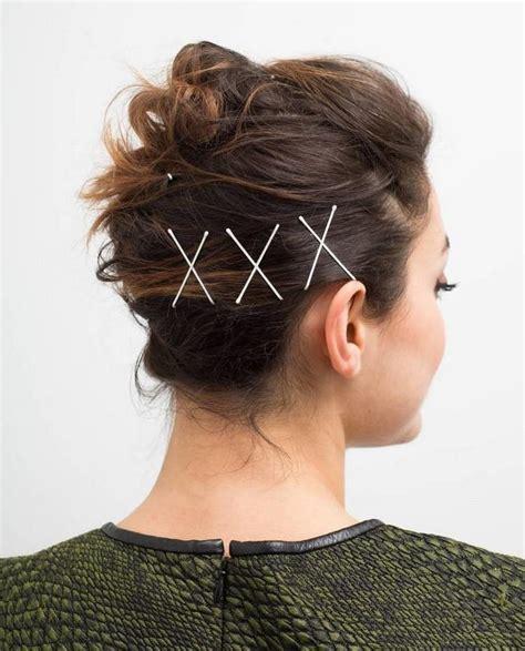 ideen fuer eine tolle frisur mit haarklammern