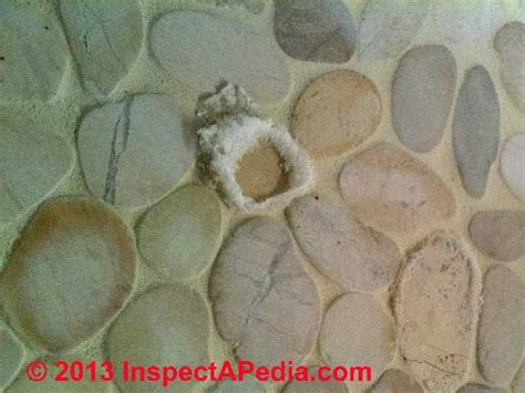 white mold in bathroom mineral efflorescence water deposits salt deposits brown white bubbly or fluffy