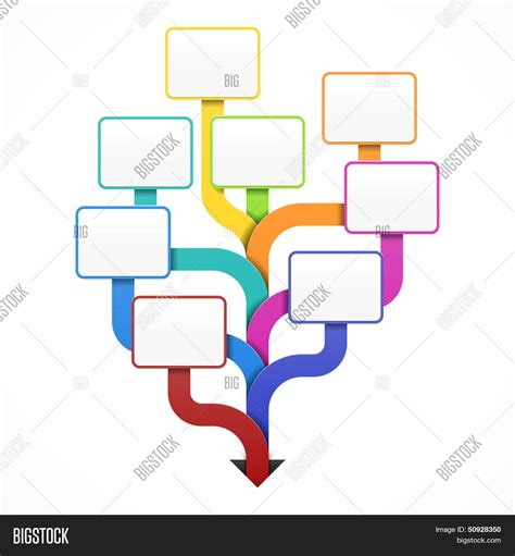 Blank Business Tree Template Vector Photo Bigstock Family Tree Template Info Graphics