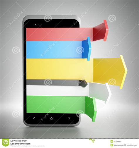 digital mobile marketing digital mobile marketing royalty free stock images image