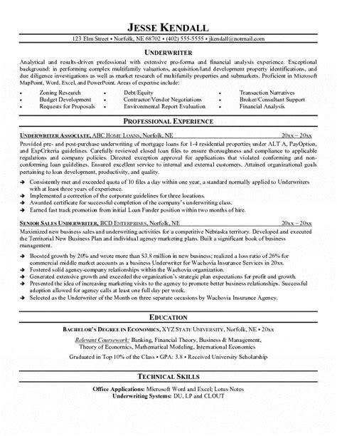 Underwriter Resume