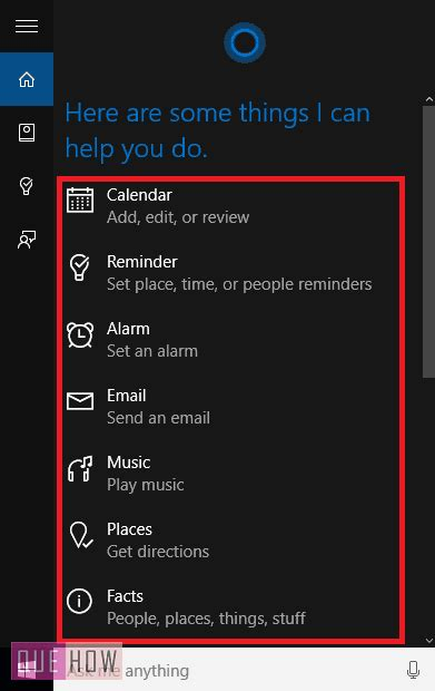 15 things you can do with cortana on windows 10 how to geek 10 things you can do with cortana in windows 10 quehow