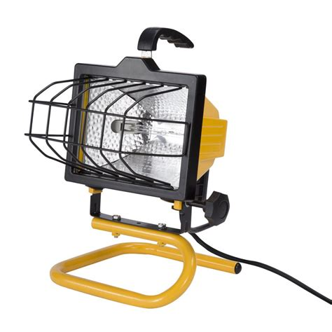 work light utilitech 500 watt halogen portable work light lowe s canada