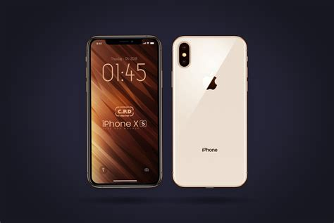 iphone xs front back mockup free psd