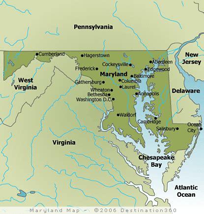 maryland map america map of maryland maryland state map