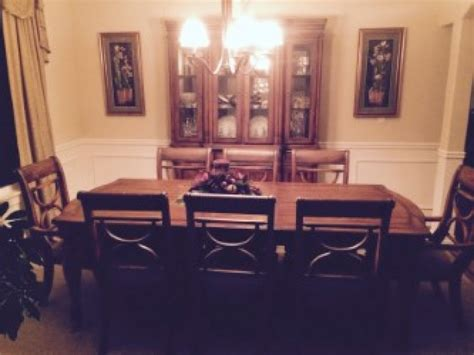 dining room set table 8 chairs and china hutch kent